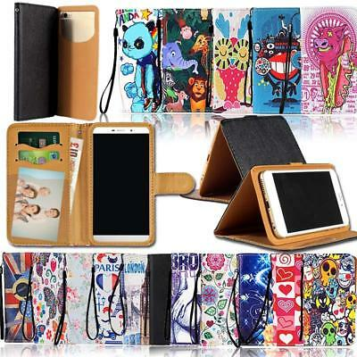 For Various Mobile phones - Universal Flip Leather Wallet Stand Cover Case