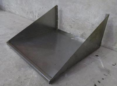 """24"""" x 24"""" Stainless Steel Commercial Microwave Oven Wall Mount Shelf"""