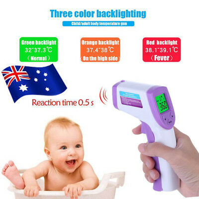 AU Digital LCD Non-contact IR Infrared Thermometer Forehead Body Temperature