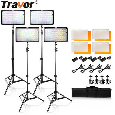 SAMTIAN 4SET TL-240 LED Video Light Photography Panel Camcorder Lighting Kits