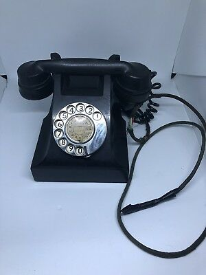 Vintage Retro 300 Series Black Bakelite Phone