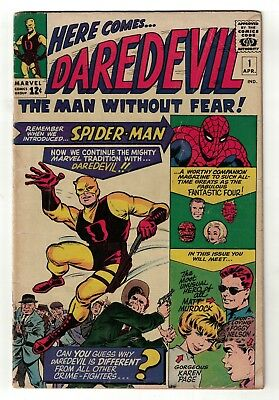 Marvel Comics Daredevil 1 4.5 VG+ issue  man without fear 1st appearance