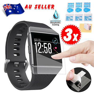 3Pcs Explosionproof Waterproof LCD Screen Ultra Protector Film For Fitbit Ionic
