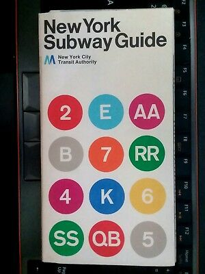 Printed Nyc Subway Map.1972 Nyc Subway Guide Map Version 2 Last Map Printed With The 3