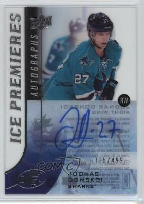 2015-16 Upper Deck Ice Premieres /499 Joonas Donskoi #IPA-DO Rookie Auto