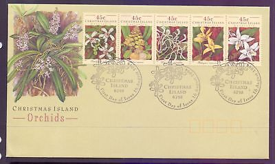 Christmas Island  1994  FDC, Orchids.
