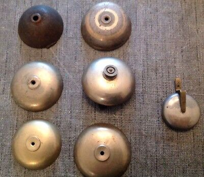 Antique French Clock Cast Brass Bell Collection 6 For Barrel Movements 52-59mm
