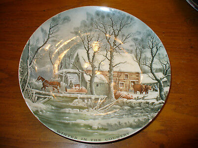 Currier and Ives The Antique Trader Collector Plate