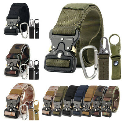 4PCS Outdoor Heavy Duty Rigger Military Tactical Belt Quick-Release Metal Buckle