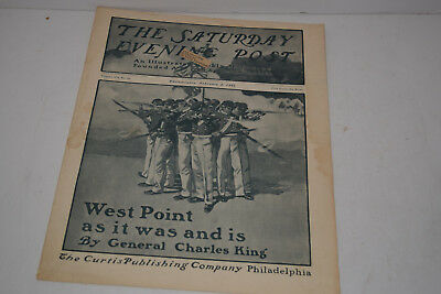 Antique February 2, 1901 The Saturday Evening Post Magazine - West Point Cadets