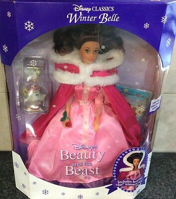 """Disney """"Winter Belle Doll""""  Beauty and the Beast Original 1992"""