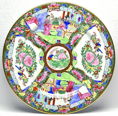 Chinese Hand-Painted Porcelain Plate 10.5""