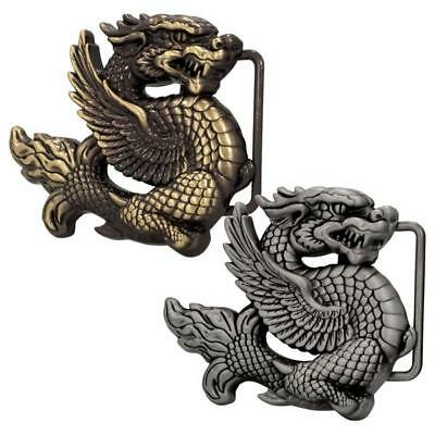 Unisex 3D Ancient Chinese Dragon Novelty Belt Buckle