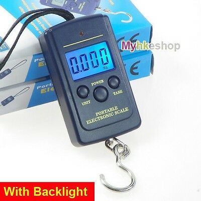 40Kg Digital LCD Luggage Pocket Scale Fishing Hanging Scale Weight Electronic