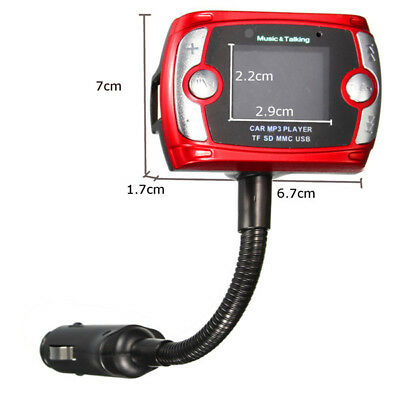 Bluetooth* Hands Free Call Car FM Transmitter LCD Wireless MP3 Player SD TF USB/