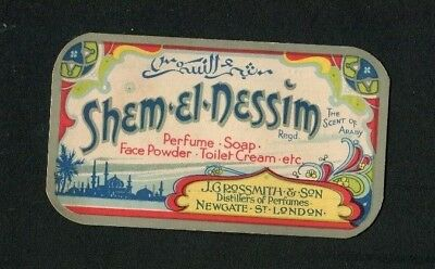 """Perfume Card """"Shem'eL'Nessim """" Grossmith,In Aid of Funds  for Childrens Outing."""