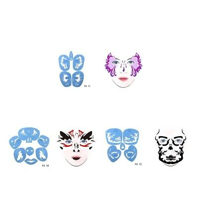 Reusable Face Painting Stencil Body Art Template for Halloween Party Make Up