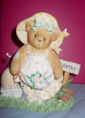 "Cherished Teddies 107063 Flo  ""Gather Friendships Like Blossoms""  2002 NIB"