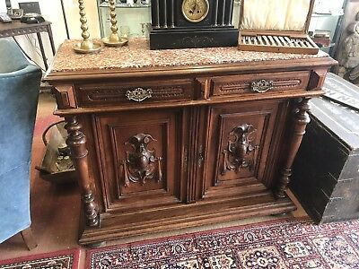 French Victorian Marble Topped Buffet