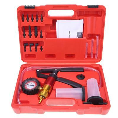 21pcs Handheld Vacuum Pump Kit Pressure Pump Brake Oil Tester Adapter Tool Kit