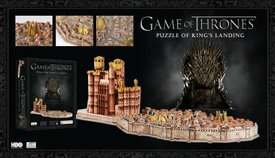4D Cityscape Game Of Thrones - Kings Aterrizaje - Puzzle 260 Partes - Nuevo /