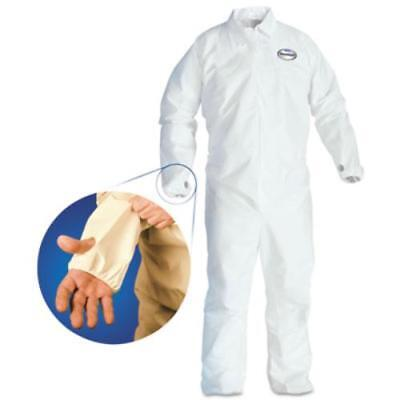 Kimberly-Clark 42526 A40 Breathable Back Coverall With Thumb Hole, White/blue,