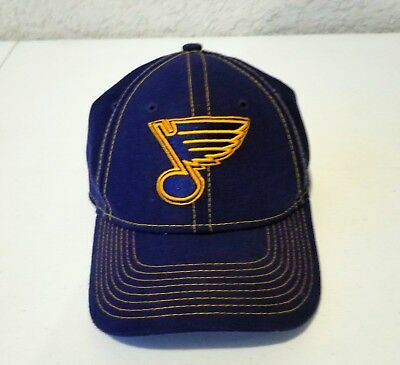 1d8aba07a21 St. Louis Blues Cap New Era 39Thirty Stretch Fit Fitted Black Neo Mesh Hat