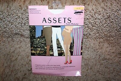 ASSETS Marvelous Mama Support Pantyhose Sara Blakely Spanx Size 2 Black NEW