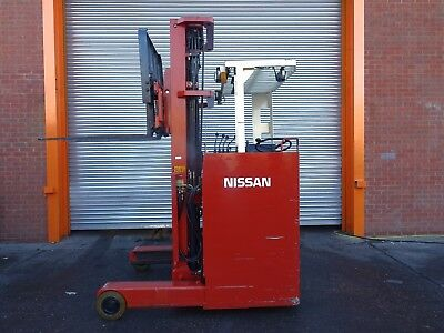 NISSAN JHCOIL15CU. 6000mm LIFT. USED ELECTRIC FORKLIFT TRUCK. (#2180)