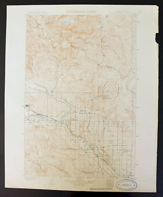 Mount Stuart Washington Rare Antique 1902 USGS Topo Map Ellensburg Topographic