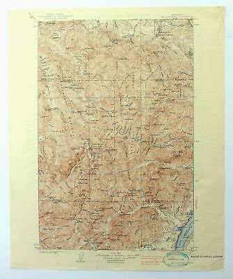 Mount Constance Washington Vintage 1938 USGS Topographic Map Olympic NP Topo