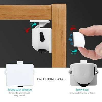 Invisible Magnetic Baby Child Safety Guard Set Proof Cupboard Door Drawer Lock
