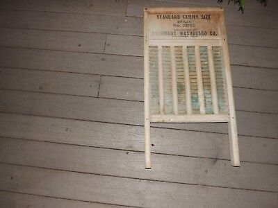 Vintage Maid-Rite Columbus Washboard Co. Standard Family Size No. 2062 Brass