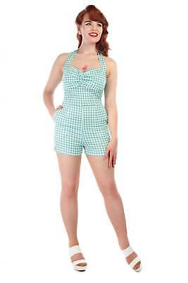 Collectif Vintage Kimmy Gingham Playsuit