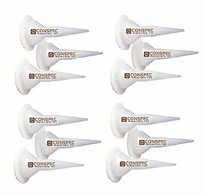 3M Flex Nozzle Cone 12 Pack Caulking Gun Replacement Sausage Sealant Tips