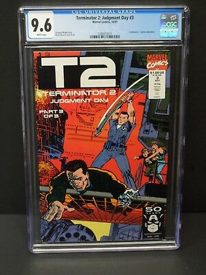 Marvel Comics Terminator 2: Judgment Day #3 1991 Cgc 9.8 Wp Movie Adaptation