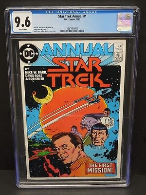Dc Comics Star Trek Annual #1 1985 Cgc 9.6 Wp Davis Ross & Bob Smith Art
