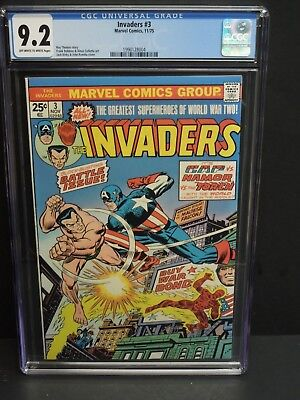 Marvel Invaders #3 1975 Cgc 9.2 Ow-Wp Jack Kirby & John Romita Cover
