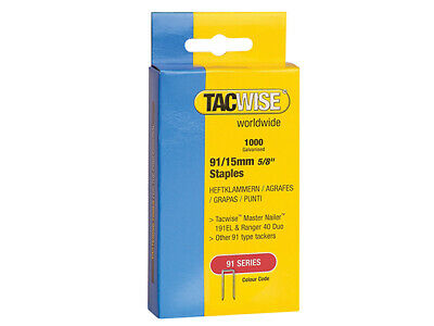 Tacwise 91 Narrow Crown Staples 40mm - Electric Tackers Pack 1000