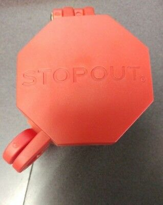 STOPOUT Glad Hand Lock,Plastic,Red,Universal, KDD477, Red