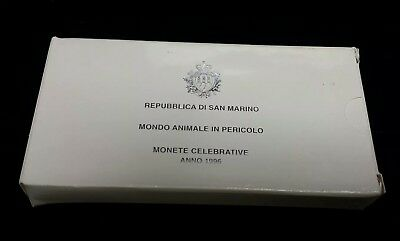 1996 Republic of San Marino Proof 2 Silver Coin Set 5000 & 10000 Lire