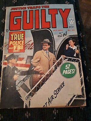 Justice Traps The Guilty #12 VG/FN