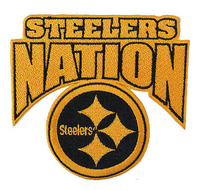 "🏈4"" PITTSBURGH STEELERS Steeler Nation Iron-on NFL Football Jersey PATCH!"