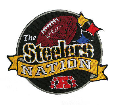 """🏈4"""" PITTSBURGH STEELERS Steeler Nation AFC Iron-on NFL Football Jersey PATCH!"""