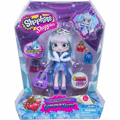 2016 LIMITED Edition Shopkins Shoppies GEMMA STONE Doll Special 4 Exclusive Toys