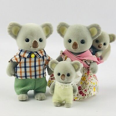 Epoch Calico Critters Outback Koala Family Mom Dad Baby Brother Sister Figures