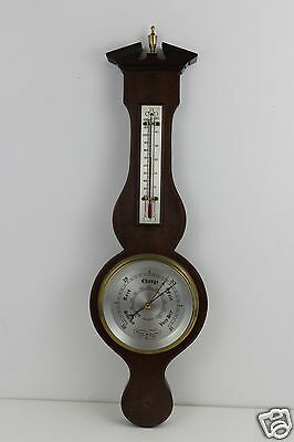 Vintage Comitti of London Barometer Thermometer With Hygrometer -- 53cm High