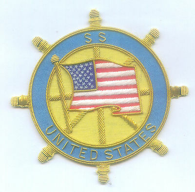 SS United States Blue Riband Trans Atlantic Ocean Liner Ship Arms Crest Patch US