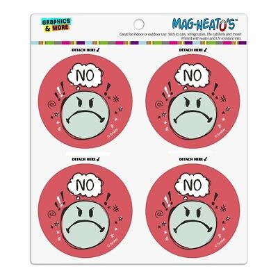 No Mad Angry Smiley Face Licensed Refrigerator Fridge Circle Magnet Set