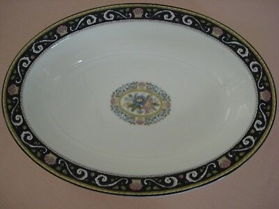 "Mint!  Wedgwood Runnymede Blue 10 3/4"" Oval Vegetable Bowl 1972"